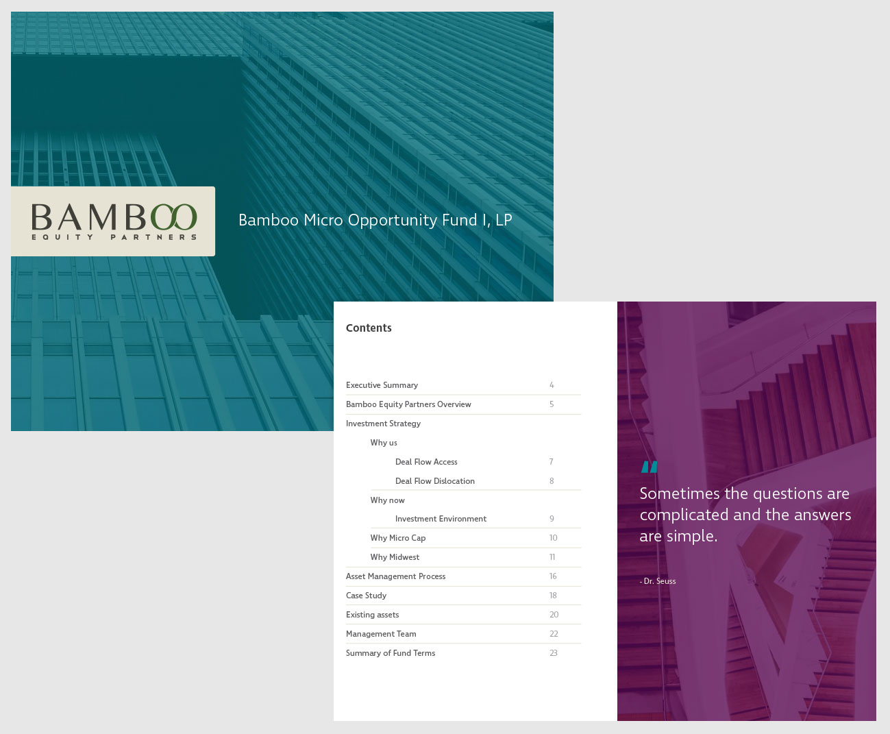 Presentation Graphic Design - Bamboo Equity Partners - #1
