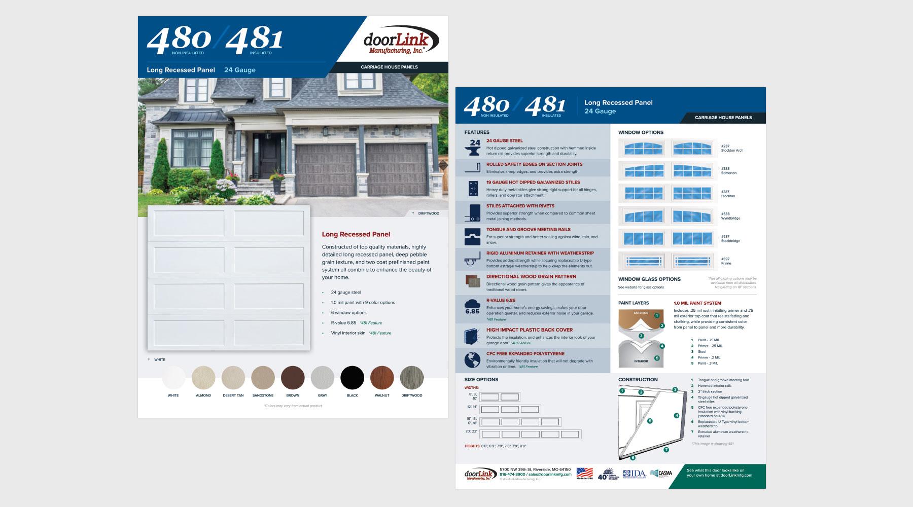 Graphic Design - Product Brochure Design - doorLink Manufacturing, Inc. #2