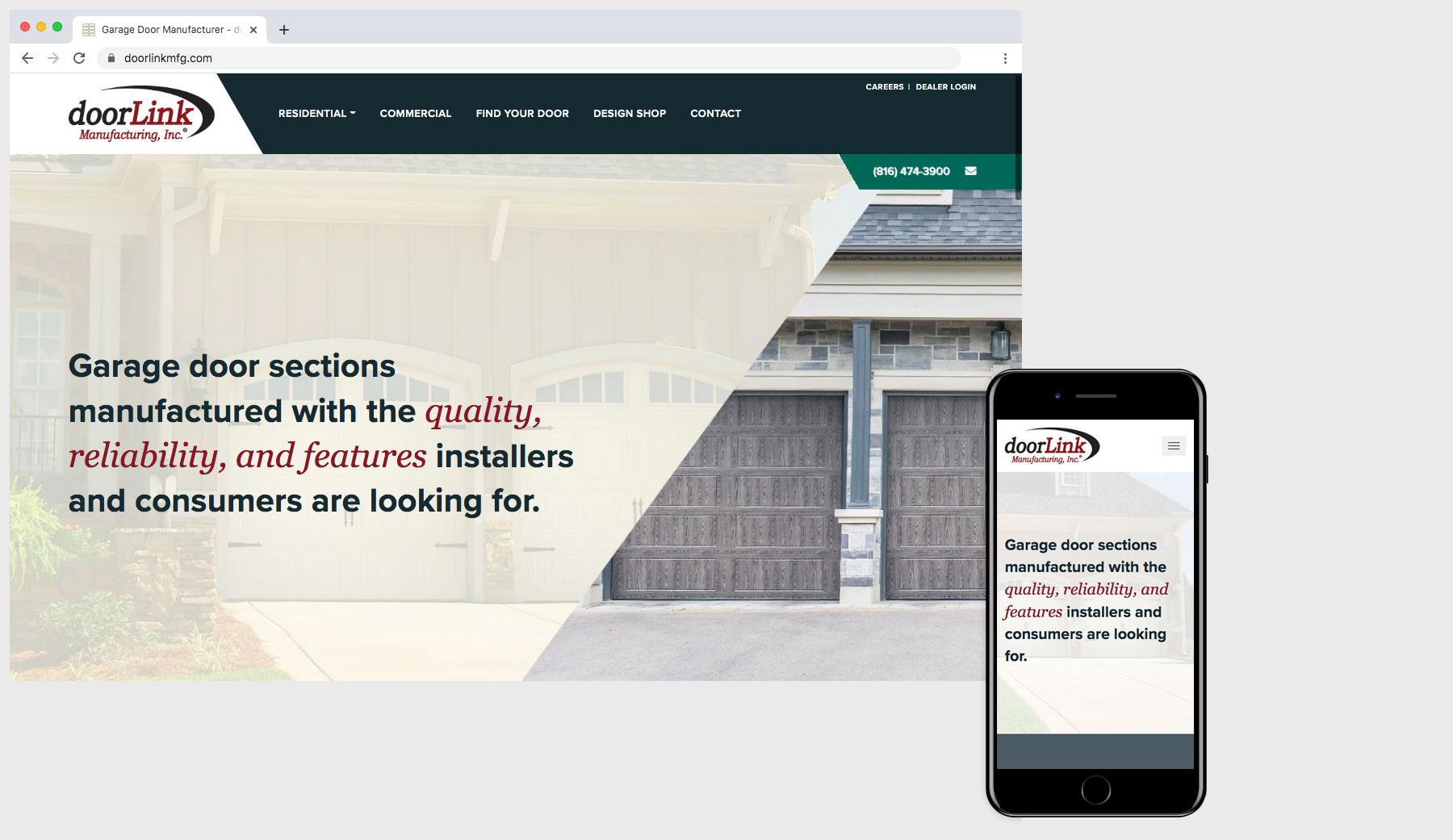 Custom Website Design & Development #1 - doorLink Manufacturing, Inc. - #1